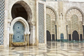 24900093 - fountains in hassan ii mosque, casablanca, morocco
